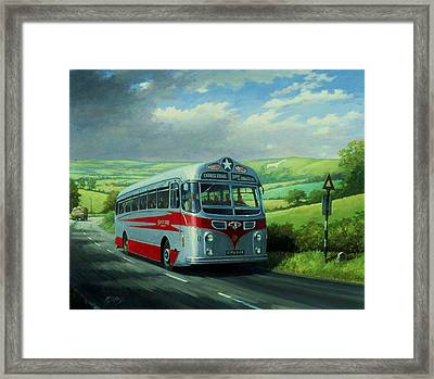 Silver Star Leyland Coach Framed Print by Mike  Jeffries