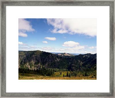 Silver Star Mountain Top Framed Print by Benjamin Garvey