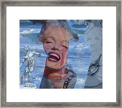 Silver Surfer, Marilyn And Superwoman, Framed Print