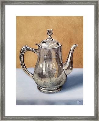 Silver Teapot Framed Print