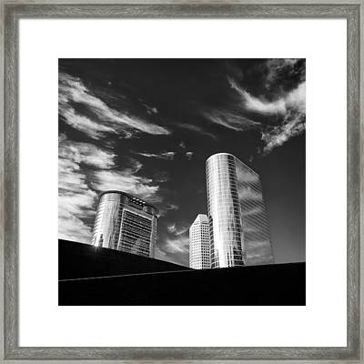 Silver Towers Framed Print