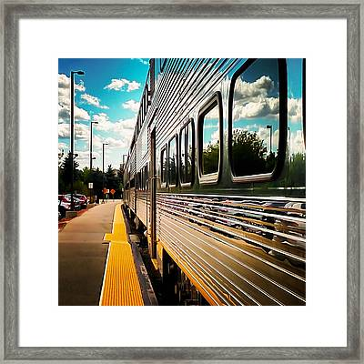 Silver Train Framed Print by Britten Adams