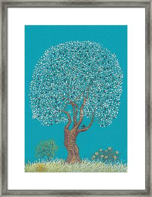 Silver Tree Framed Print by Charles Cater