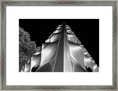 Silver Triangle Framed Print by Louis Dallara
