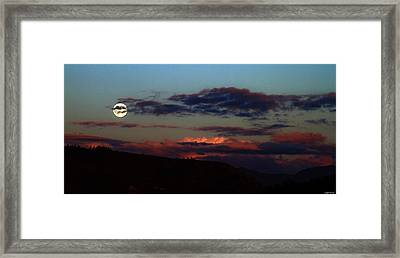 Silver Valley Moon Framed Print