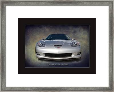Silver Vette 2013 Framed Print