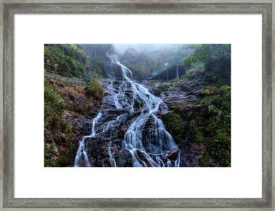 Silver Waterfall - Vietnam Framed Print by Joana Kruse