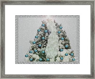 Silver Winter Bird Framed Print