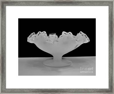 Silvercrest Fenton Bowl Framed Print by Marsha Heiken