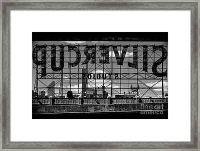 Silvercup Studios Sign Backside Framed Print by James Aiken