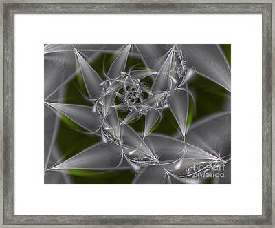 Framed Print featuring the digital art Silverleaves by Karin Kuhlmann