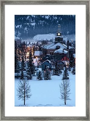 Silverton At Night Framed Print