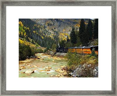 Framed Print featuring the photograph Silverton Bound by Kurt Van Wagner