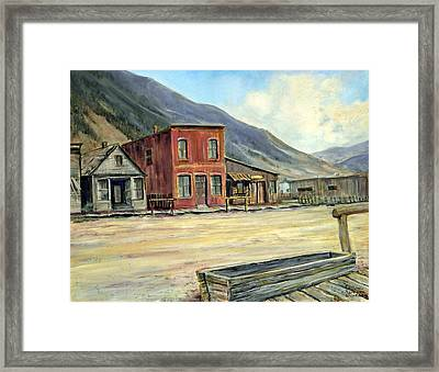 Silverton Colorado Framed Print by Evelyne Boynton Grierson