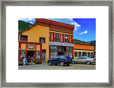 Natalias Restaurant - Silverton - Colorado Framed Print by Jon Berghoff
