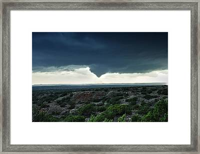 Framed Print featuring the photograph Silverton Texas Tornado Forms by James Menzies