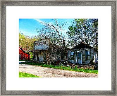 Silverville Ghost Town In Blues Framed Print
