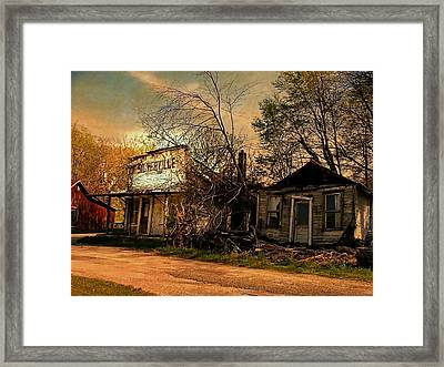 Silverville Ghost Town In Browns Framed Print