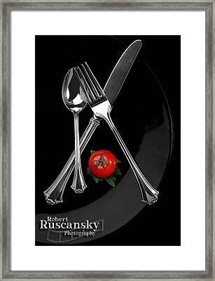 Silverware Framed Print by Robert Ruscansky
