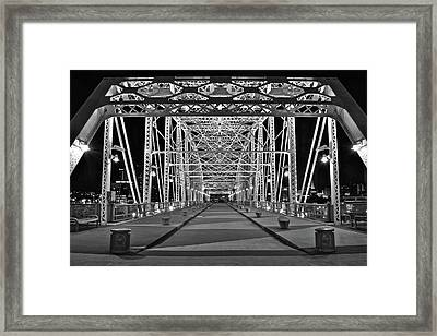 Silvery Bridge Framed Print