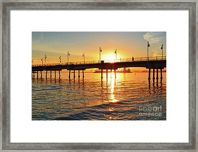 Sily Sunset At The Pier Framed Print