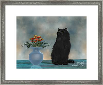Simba The House Cat Framed Print by Corey Ford