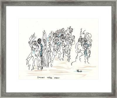 Simchat Torah Framed Print