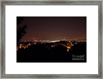 Simi Valley At Night Framed Print by Clayton Bruster