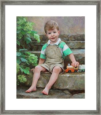 Simon Framed Print by Anna Rose Bain