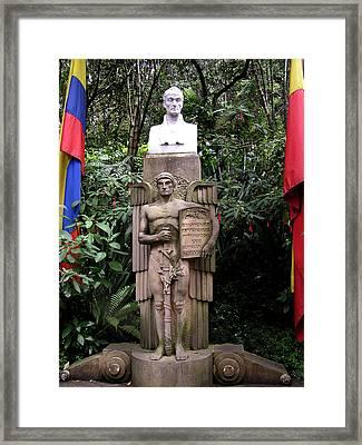Simon Bolivar Bust  Framed Print by Jack Herrington