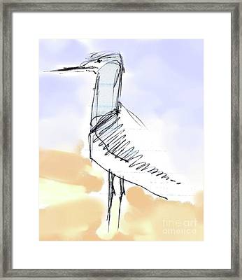 Framed Print featuring the drawing Simon by Carolyn Weltman