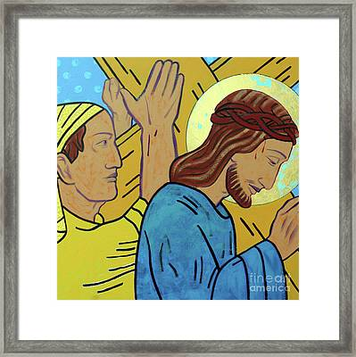 Simon Helps Jesus Framed Print