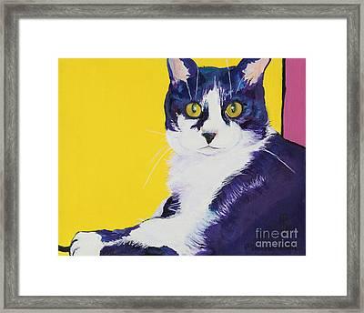 Simon Framed Print by Pat Saunders-White