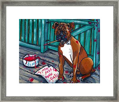 Simon Says Framed Print by Laura Brightwood