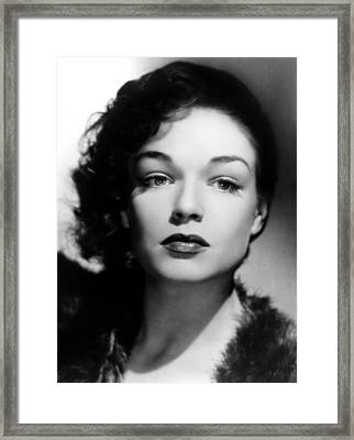 Simone Signoret, C. 1940s Framed Print by Everett