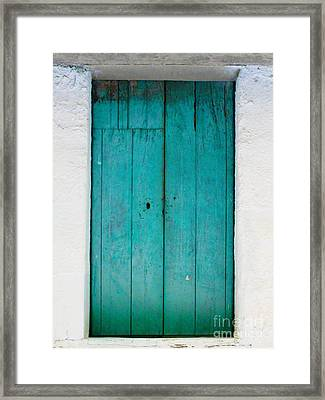 Simple Blue By Darian Day Framed Print by Mexicolors Art Photography