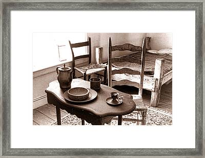 Simple Comfort Of Home Framed Print by Olivier Le Queinec