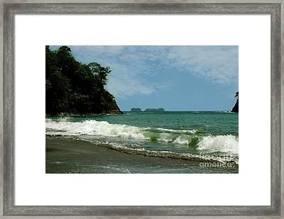 Simple Costa Rica Beach Framed Print