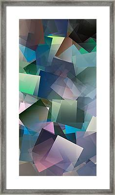 Simple Cubism Abstract 165 Framed Print