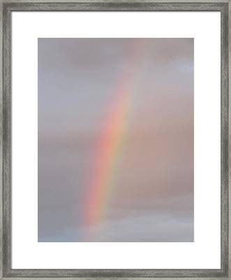 Simple Desert Rainbow Framed Print