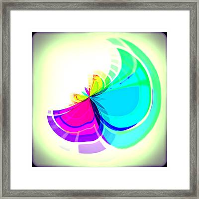 Simple Flower Framed Print by Susan Leggett