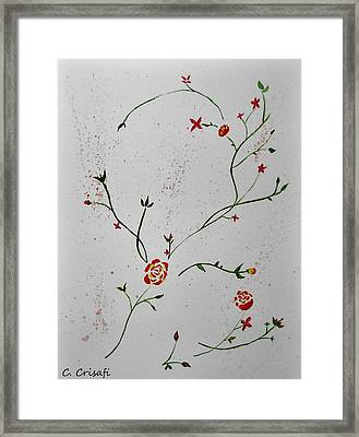 Simple Flowers #1 Framed Print