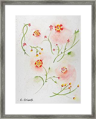 Simple Flowers #2 Framed Print