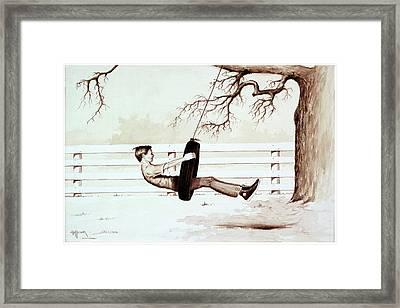 Simple Fun Framed Print by Bob Hallmark
