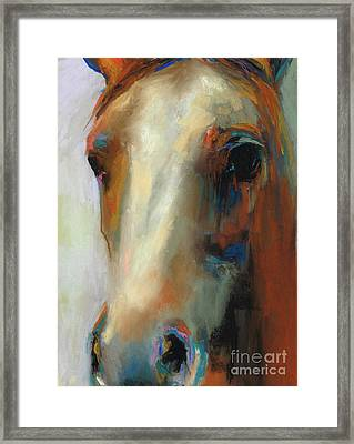 Simple Horse Framed Print by Frances Marino