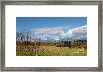 Framed Print featuring the photograph Simple Landscape by Bill Thomson