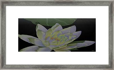 Simple Lily Framed Print by Debra     Vatalaro