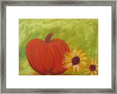Simple Lone Pumpkin Framed Print
