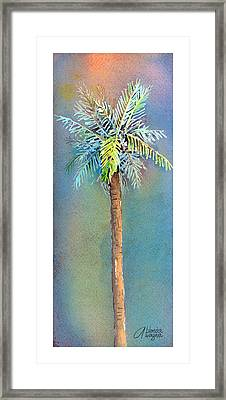 Simple Palm Tree Framed Print