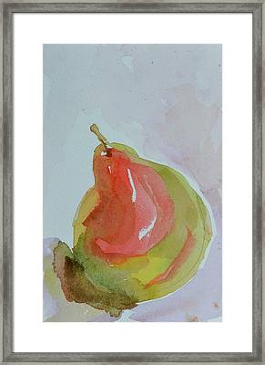 Framed Print featuring the painting Simple Pear by Beverley Harper Tinsley